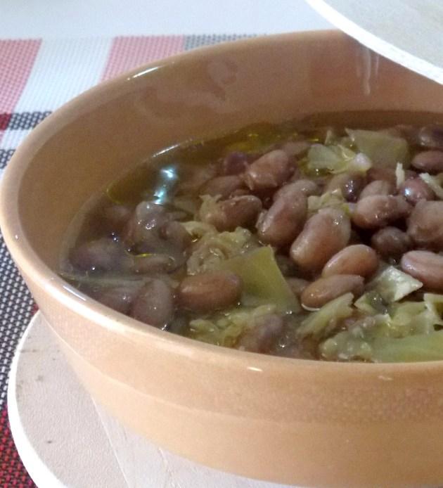Zuppa di Fagioli e Cavolo Cappuccio