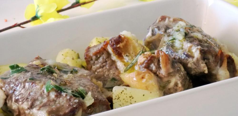 Biancostato al Forno con Patate
