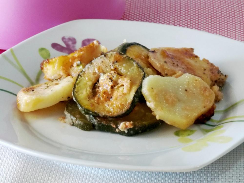 Zucchine con Patate al Forno