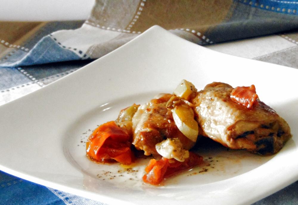 Pollo con Zucchine e Pomodorini