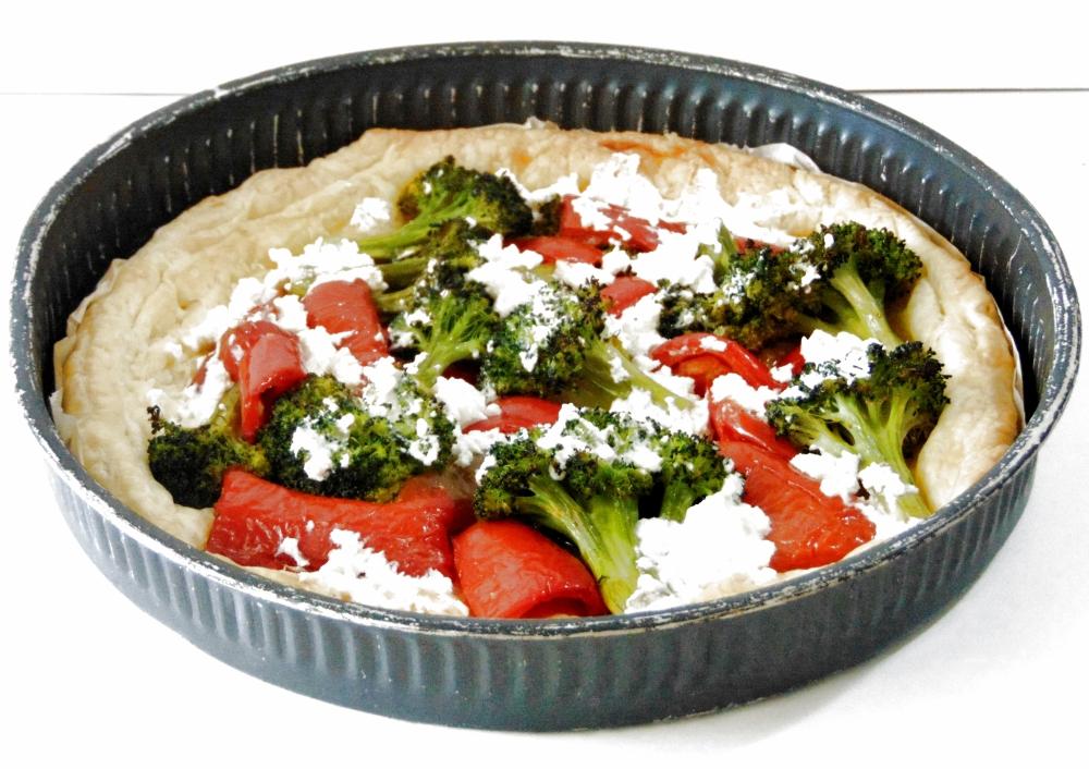 Torta Salata con Broccoli, Peperoni e Ricotta